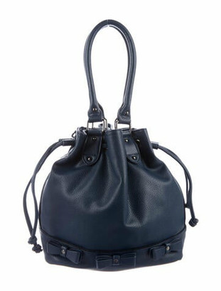 Lanvin Bow Leather Tote Blue