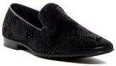 Giorgio Brutini Black Faux Snake Print Loafer