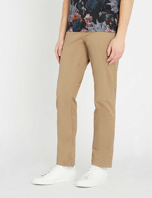 Ted Baker Slim-fit stretch-cotton chinos