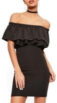 Missguided Women's Bardot Ruffle Bodice Dress