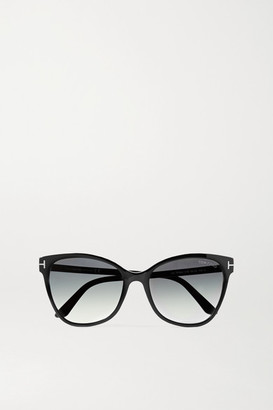 Tom Ford Ani Cat-eye Acetate Sunglasses - Black
