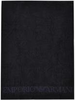 Giorgio Armani Emporio Large Beach Towel Navy