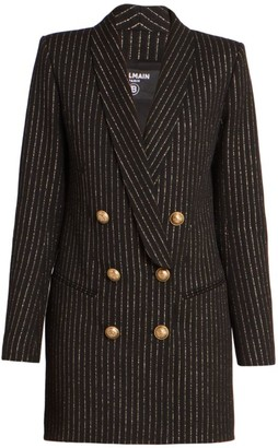 Balmain 6 Button Lurex Stripe Jacket Dress