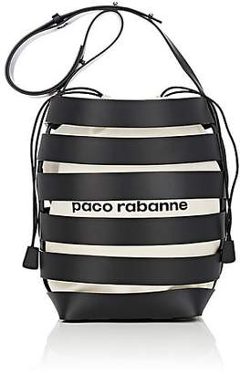 Paco Rabanne Women's Leather Cage Bucket Bag - Black