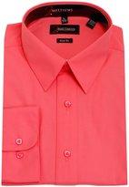 J.Matthews Signature Men's Basic Convertible Cuff Slim Fit Dress Shirts