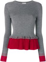 RED Valentino contrast peplum jumper