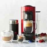Sur La Table Nespresso VertuoPlus by De'Longhi with Aeroccino3 Frother, Red