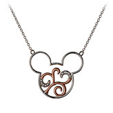 Disney Mickey Mouse Scroll Icon Necklace by Rebecca Hook