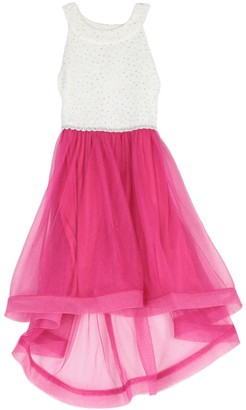 Speechless Girls 7-16 Lace to Tulle High Low Dress