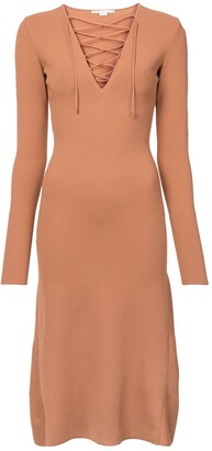 Stella McCartney Lace Up Jersey Dress