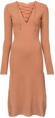 Stella McCartney Lace Up Jersey Dress