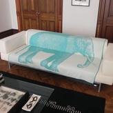 Thomas Paul Elephant Throw 50x70 Aqua