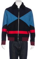 Valentino 2015 Wool Colorblock Jacket