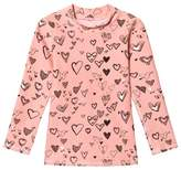 Soft Gallery Coral Almond Heartart Astin Sun Shirt