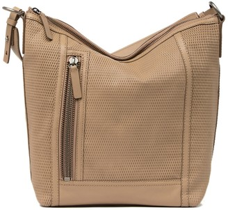 Frye Lena Leather Perforated Hobo Bag