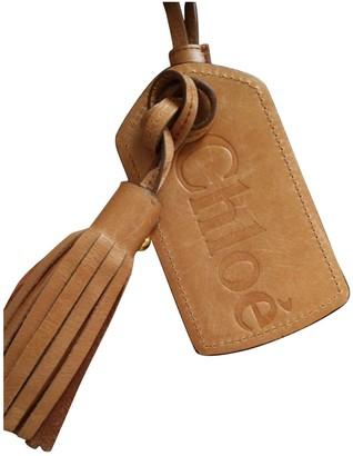 Chloé Brown Leather Bag charms