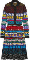 Mary Katrantzou Cecile Pleated Lurex Jacquard-knit Midi Dress