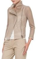 Akris Punto Women's Mesh Moto Jacket
