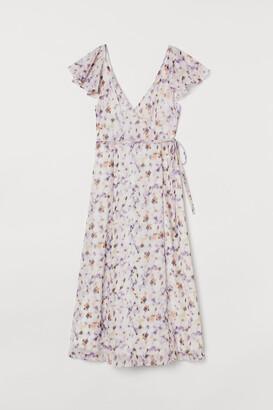 H&M Long V-neck dress
