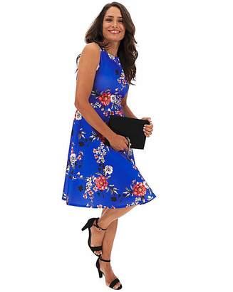 Capsule Cobalt Floral Skater Dress