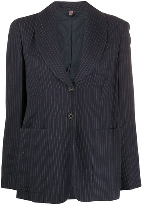 Romeo Gigli Pre-Owned 1990s Single-Breasted Pinstripe Blazer