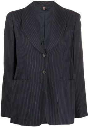 Romeo Gigli Pre Owned 1990s single-breasted pinstripe blazer