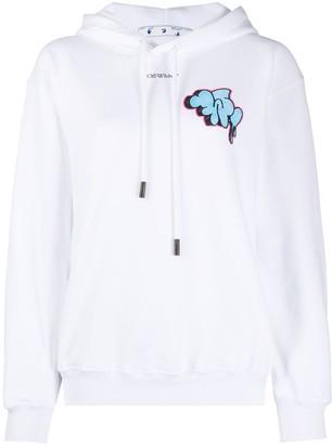 Off-White Graffiti print hoodie