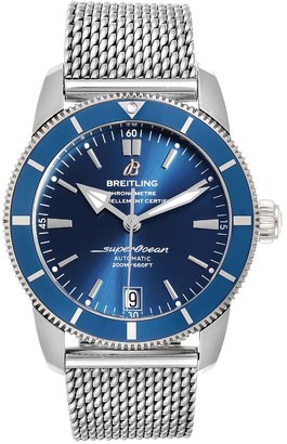 Breitling Blue Stainless Steel Superocean Heritage II AB2010 Men's Wristwatch 42 MM