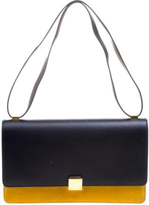 Celine Navy Blue/Yellow Leather Medium Case Bag