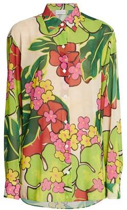 Dries Van Noten Tropical-Print Cotton Shirt