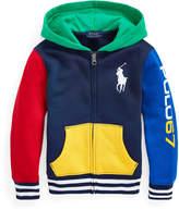 Ralph Lauren Childrenswear Boy's Yummy Colorblock Fleece Zip-Up Hoodie, Size 5-7