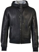 Dolce & Gabbana Leather And Cotton Jersey Jacket
