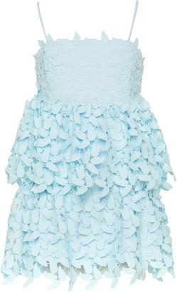 Bardot Junior Darcy Leaf Lace Tiered Dress