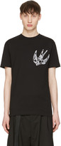 McQ by Alexander McQueen Black Paisley Swallow T-Shirt