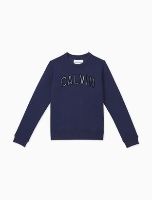 Calvin Klein Varsity Logo Pullover Sweatshirt
