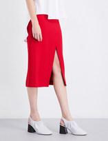 Tome High-waisted crepe pencil skirt