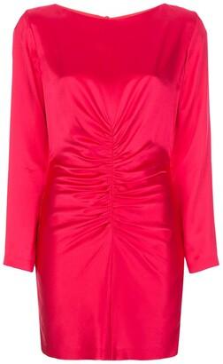 Mason by Michelle Mason Rushed Silk Mini Dress