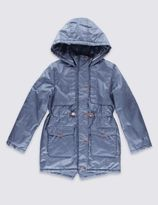 Marks and Spencer Pure Cotton Hooded Coat with StormwearTM (5-14 Years)