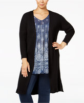 Style&Co. Style & Co. Plus Size Rib-Knit Duster Cardigan, Only at Macy's