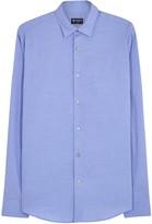Tiger Of Sweden Farrell Blue Textured Cotton Shirt