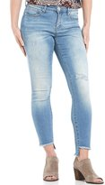 Miraclebody Jeans Ideal Ankle Destruction Detail Frayed Step Hem Jeans