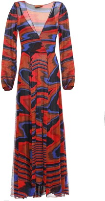 Missoni Wrap-effect Jacquard-knit Maxi Dress