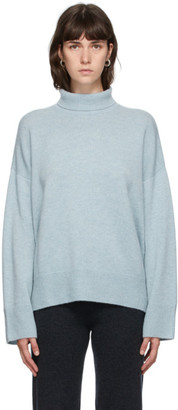 Le Kasha Blue Cashmere Turtleneck