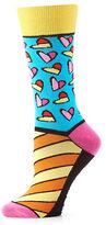 Yo Sox Hearts and Striped Socks