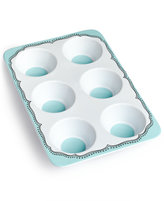 Whim by Martha Stewart Collection Mint Embroidery Ceramic Muffin Pan