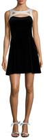 Karen Millen Black Velvet Flared Dress