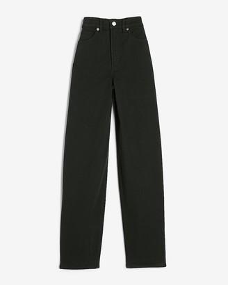 Express Super High Waisted Black Balloon Leg Jeans