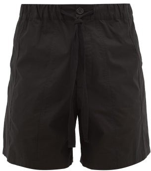 J.W.Anderson Drawstring-waist Cotton Shorts - Mens - Black