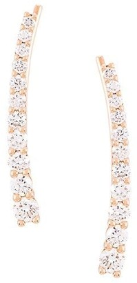 Alinka 18kt gold DASHA SUPER FINE diamond cuff earrings