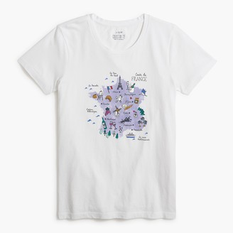 J.Crew Map of France graphic tee
